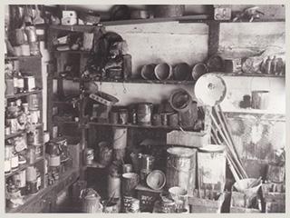 当時の材料置き場