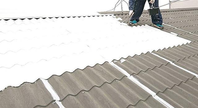 鋼板屋根の錆止め