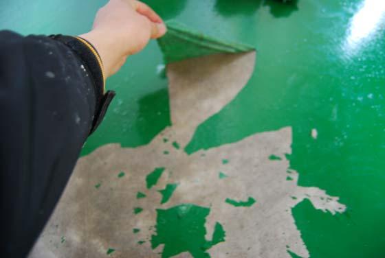 塗料の剥がれ