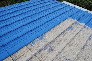 セメント瓦屋根塗り