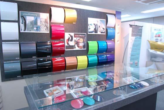 日本ペイントの塗料展示室