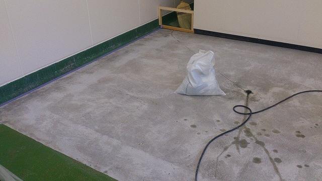 研磨後の床