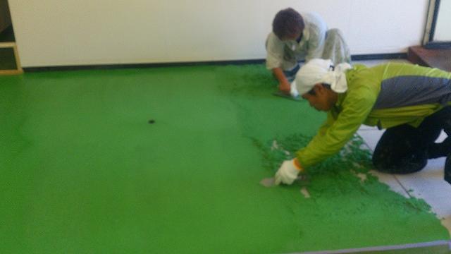 耐水モルタル塗布