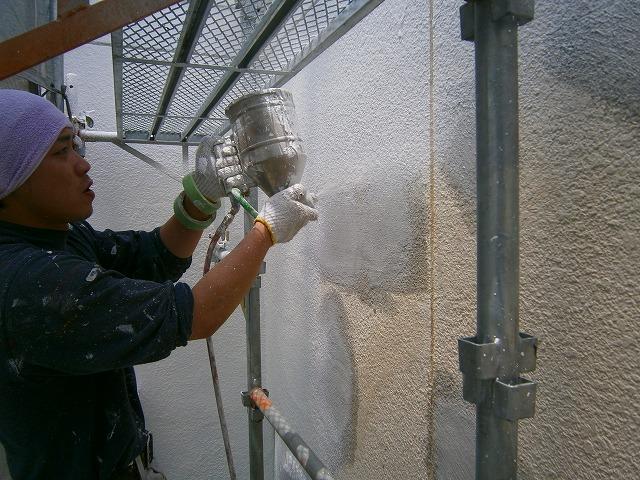 吹付けタイル塗装