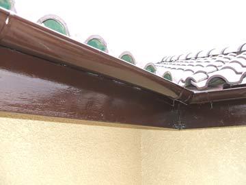 破風・樋の塗装状況