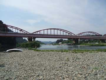 那珂川にて。