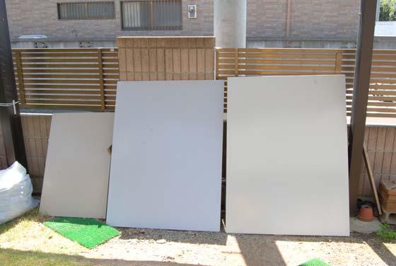 外壁塗装の色見本。