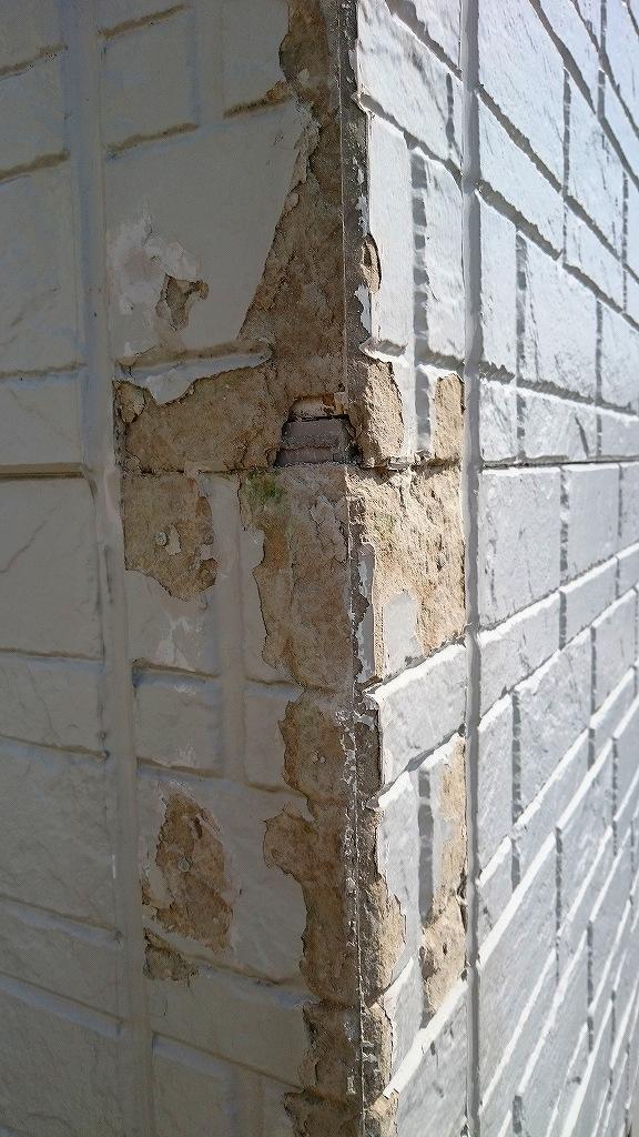 外壁補修作業前
