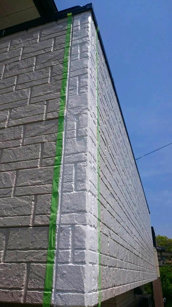 外壁補修作業中1