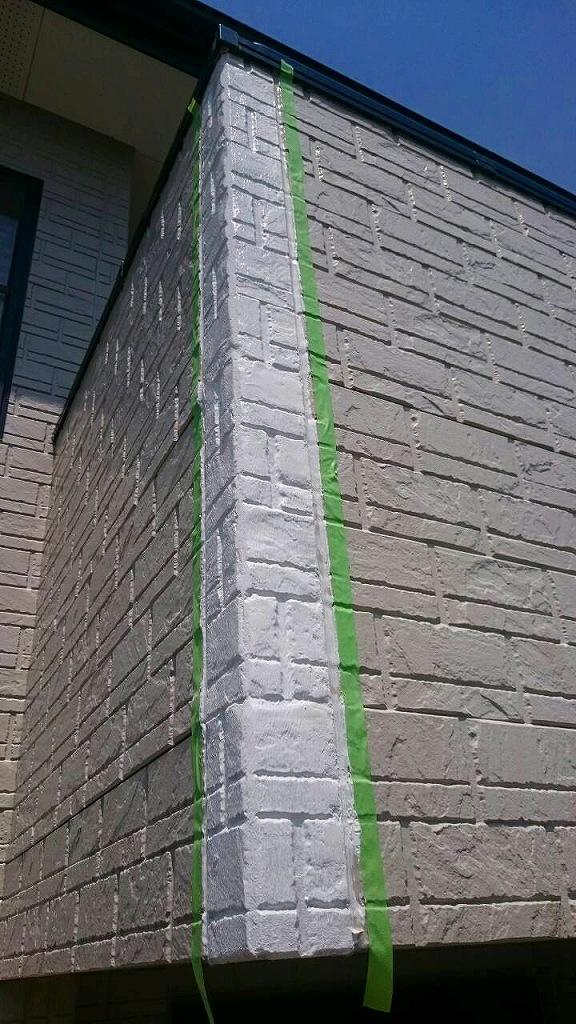 外壁補修作業中2
