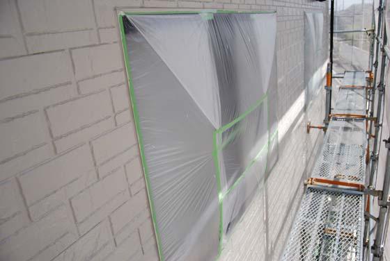 外壁塗装時の窓養生